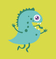 cute monster cartoon character 004 vector image vector image