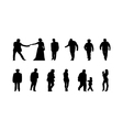 different silhouettes of people vector image vector image
