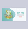 doodle kids menu and baby food web template vector image