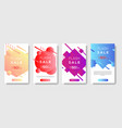 dynamic modern shape mobile for flash sale banners vector image vector image