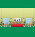 fast food restaurant concept flat vector image