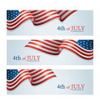 flag united states america 4th july banner vector image