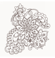 floral lace pattern element vector image vector image