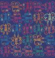 funky stylized sketchy kids doodle butterfly motif vector image
