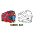 funny london bus with eyes coloring book vector image