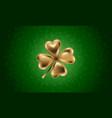 golden clover leaf for st vector image vector image