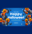 halloween sale banner with scary face air vector image