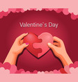 happy valentines day heart puzzle template vector image vector image