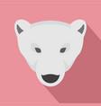 head of polar bear icon flat style vector image vector image
