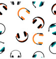 headphones icon seamless pattern vector image vector image