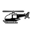 helicopter aircraft symbol vector image vector image
