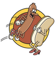 Hot dog jumps into bun vector | Price: 1 Credit (USD $1)