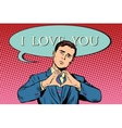 i love you gesture heart man vector image vector image
