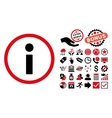 Info Flat Icon with Bonus vector image vector image
