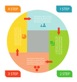 infographic business circle vector image