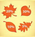 large autumn sale set vector image vector image