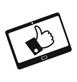 Like tablet simple icon vector image vector image