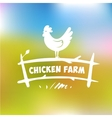 logo Chicken farm vector image vector image