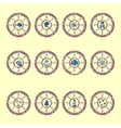 Marine symbols grunge vector image vector image