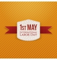 May 1st Labor Day paper Banner vector image vector image