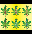 medical cannabis leaf snake symbol design vector image vector image