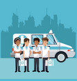 medical emergency at city vector image vector image