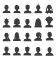 men and women head simple avatar icons set eps10 vector image vector image
