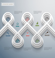 Modern Infographic design vector image