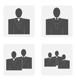 monochrome icon set with Mister vector image vector image