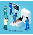 On Reception At Doctor Isometric Composition vector image