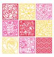 paper cut silhouette floral fretwork lattice vector image vector image