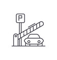 parking lot line icon concept parking lot vector image