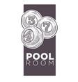 poolroom logo monochrome sketch outline vector image