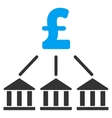 Pound Bank Association Flat Icon Symbol