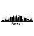 riyadh saudi arabia city skyline silhouette with vector image vector image