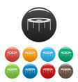 round trampoline icons set color vector image vector image