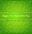 saint patrick day poster greetings card with vector image