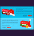 santa claus hat 55 off sign on discount labels vector image vector image