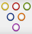 Set of colored round empty buttons vector image vector image