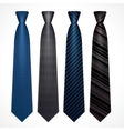 set of neckties vector image vector image