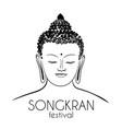 sitting budha bangkok thailand vector image