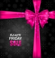 Snowflakes Dark Background for Black Friday Sales vector image