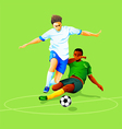 Soccer attack vector image