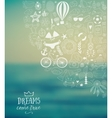 summer beach hand drawn travel vacation vector image