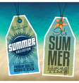Summer Sale Tags vector image vector image