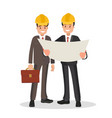 the customer and the contractor with the project vector image