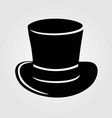 Top hat icon isolated on white background