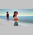 unhappy sad couple in depression having vector image vector image