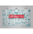 web marketing icons vector image vector image
