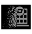 white sparkle pixel halftone dash company building vector image vector image